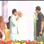 PM @narendramodi reaches Panchkula for ML Khattar's oath taking ceremony  #KhattarCM