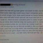 Penangan Clash Of Clans. Kesian si isteri. ???? http://t.co/T4tPruOEs5