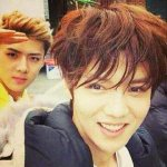 """""""@EXOffical_: Unseen photos of Luhan & Sehun during Sunny 10 CF recording, at the same time when Luhan took... http://t.co/gU3Sl6WlqD"""""""