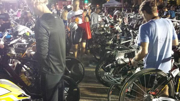 Crammed in not even enough room to run with your bike out of T1 #miami703 wtf http://t.co/tscbrLM8e9
