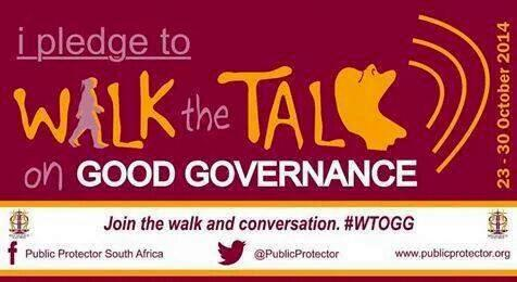 "Yes! ""@PublicProtector: Retweet this banner if you wanna Walk the Talk on Good Governance @ThuliMadonsela3 #WTOGG http://t.co/rYZ4z0XmKL"""