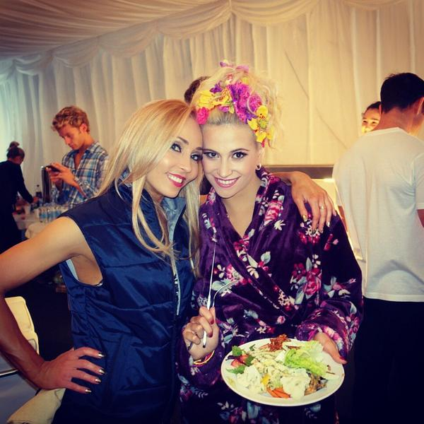 @PixieLott and I are always the first ones to get to the food table :-))) @bbcstrictly #strictly2014 #scd http://t.co/4jhpDS8wDV