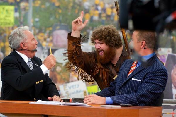 Last time @CollegeGameDay was at WVU, I gave Corso a piece of my mind. Can't wait to see what happens this time! http://t.co/XUwPqB4rmL
