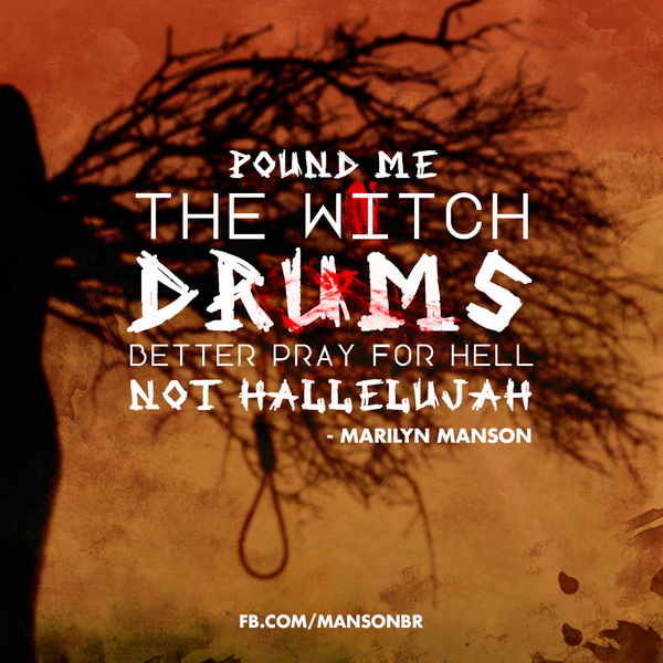 """Better pray for hell, not hallelujah"" - @MarilynManson http://t.co/6MAVYdnP8c"