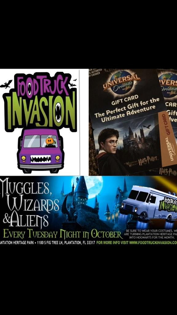 Tuesday, Oct 28th at Plantation Heritage Park. 5-9:30pm Muggles, Wizards and Aliens Night.  Free raffle, movies, etc http://t.co/lYqz1qyK3z