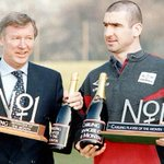 RT @90sfootball: Sir Alex Ferguson & Eric Cantona with their manager and player of the month awards in March 1996. http://t.co/J5kJLMKOYA