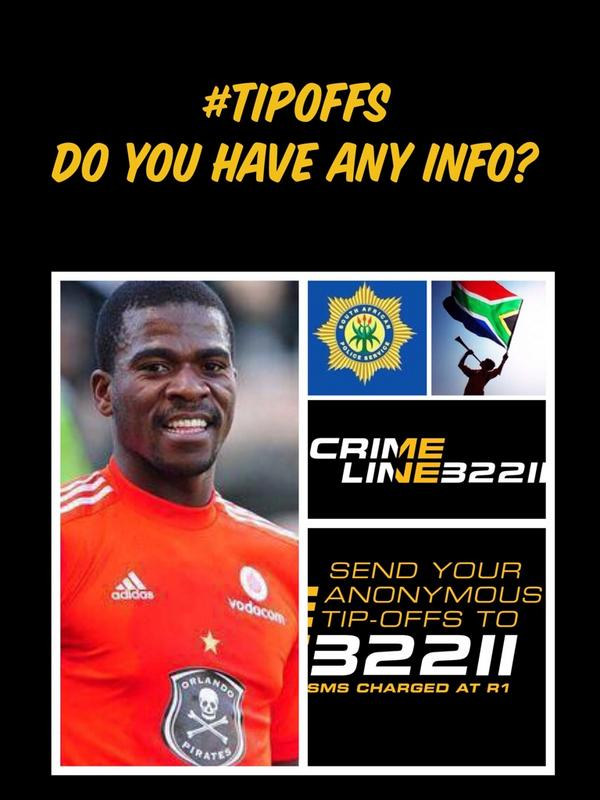 #SenzoMeyiwa Do you have any info? RETWEET PLEASE. @CrimeLineZA SMS 32211 or call @SAPoliceService 08600 10111. http://t.co/jN07xDOHhw