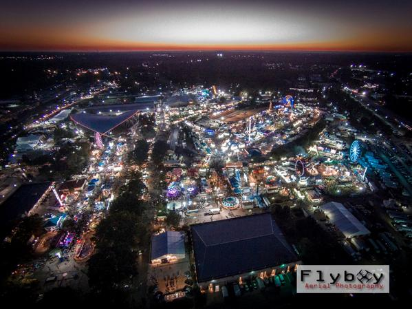Beautiful! RT @flyboyaerial: Night shot from @NCStateFair @WRALOutandAbout #drones #photography http://t.co/r4yWOP0eae