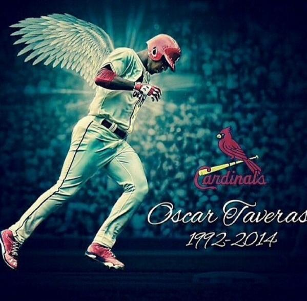 R.I.P. to the Dominican native and St. Louis Cardinal outfielder Oscar Taveras (1992-2014)