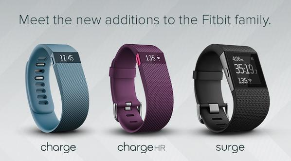 Introducing: Fitbit Charge, Charge HR & Surge. 3 new trackers & a whole new world of fitness: http://t.co/mml4ojcn6n http://t.co/me5AG2mPFg