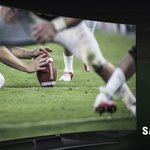 Ultimate football lineup: Lucky jersey, couch, Curve #UHDTV. It's game time. http://t.co/mTN1wWaY2q