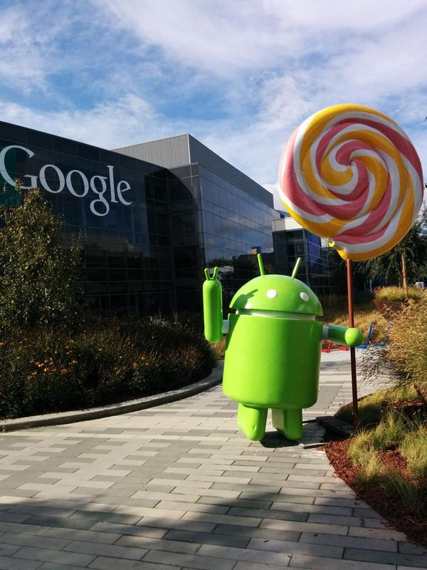 An Android Lollipop statue at Google? Check that box off. http://t.co/iCgBmUhPv8