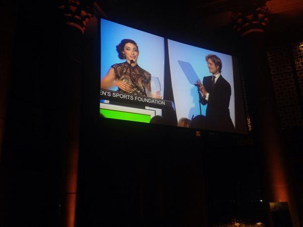 Congratulations to @Meryl_Davis, winner of our 2014 Sportswoman of the Year award! #WSFAnnualSalute http://t.co/JaOg2MxGVd