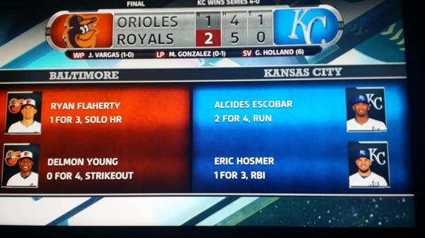 29 years #Royals waited for this FINAL SCORE! Cherish the victory, KC.World Series...we are hungry for THAT win! http://t.co/HCXdVo5j8A