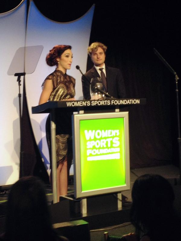 The gracious @Meryl_Davis accepts 2014 @WomensSportsFdn Sportswoman of the Yr Team