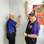 Daryl & Dawn make their mark #AliceSprings @AliceSpringsTC #ASMG2014 @friendly_games @NTSportRec http://t.co/iNmYmijQVb