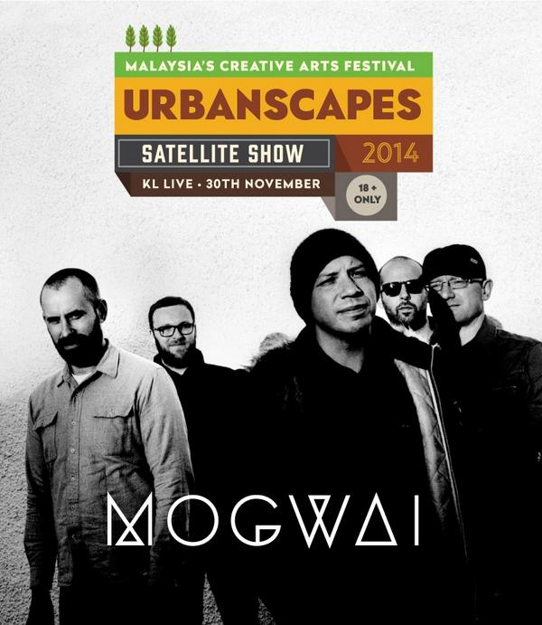 The rumours are true, @Mogwaiband will be in orbit as an #Urbanscapes satellite show! Catch them 30 Nov at @KL_Live! http://t.co/WGIQvZkb7v