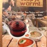 RT @hzcatering: @hz @hzeeland catering heeft weer een leuke soep actie. Bij elk kopje soep er kraskaart met kans op een soeppan http://t.co/dhYJzGJNAq
