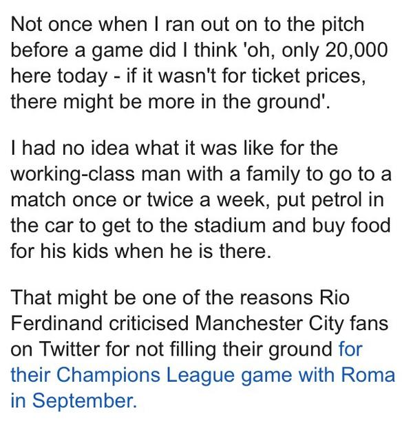 I had no idea what it was like for a working class fan  Honesty from @RobbieSavage8 on #PriceofFootball on @BBCSport http://t.co/IX6pXiwV8q
