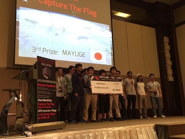 TB2014KUL #CTF mayuge is 3rd!!  (・ิω・ิ)< マユゲー http://t.co/YaWJKMqvVS