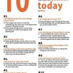 10 Things you must tell yourself today.....