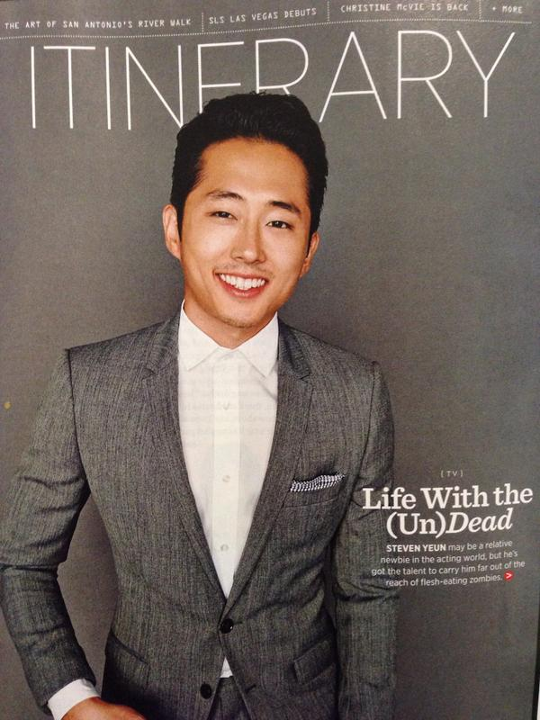 Loved talking to this guy (@steveyeun) for the Oct issue of American Way. Online version: http://t.co/AGCalLjtI8 http://t.co/u38G1z18Xh