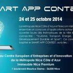 A partir du 24 octobre, RDV pour le #SmartAppContest ! #Nice06 @metropoleNCA http://t.co/WFqxo6AqQS @TelecomValley http://t.co/nwGABA2TIi