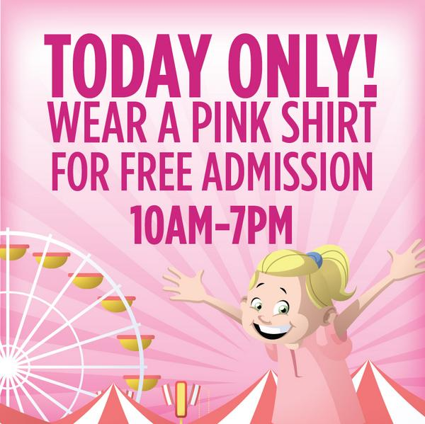 Today's the day! Wear a pink shirt and get free admission to @SCStateFair! http://t.co/viNimR2BF2