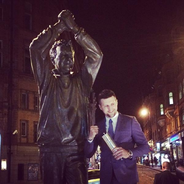 Carl and Cloughie #FreemanFroch http://t.co/wke4DKBkLd