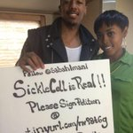 salute to @SabahImani. #SickleCell is real. sign the petition. http://t.co/dySsIQbW7x