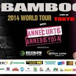 RT @ChristineNavs17: Catch @annecurtissmith & Bamboo in Tokyo,Japan this October 19 for the World Tour