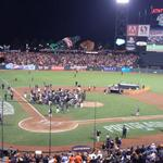 RT @knbrmurph: Somewhere in there is Travis Ishikawa, who now lives forever. http://t.co/VnhFT6hQsr