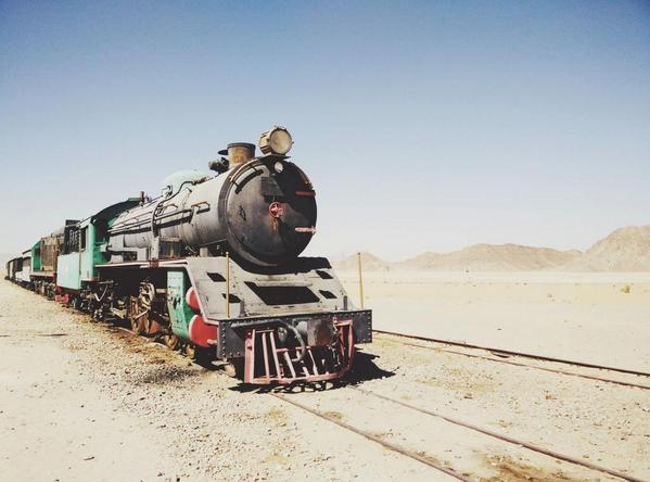 And then, all of a sudden, you see this old train in the middle of the desert and you travel back in time. #GoJordan http://t.co/auCuaD4c9N