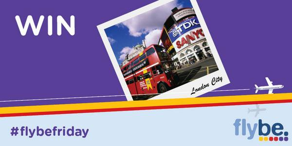 FREE flights to London City?! Enter our #FlybeFriday giveaway! RT & enter here: http://t.co/wNTZQJllJw http://t.co/M0YyRFjFIx
