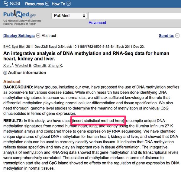 (insert statistical method here): new method for integrative methylation/RNA-seq http://t.co/8NNGAkxnFb via @neilfws http://t.co/icwKOMZAJd