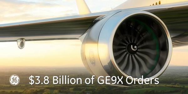 .@GEAviation has $3.8B in orders for its @ecomagination qualified GE9X jet engine: http://t.co/dlrY551TB5 http://t.co/ewl9aXV1sm