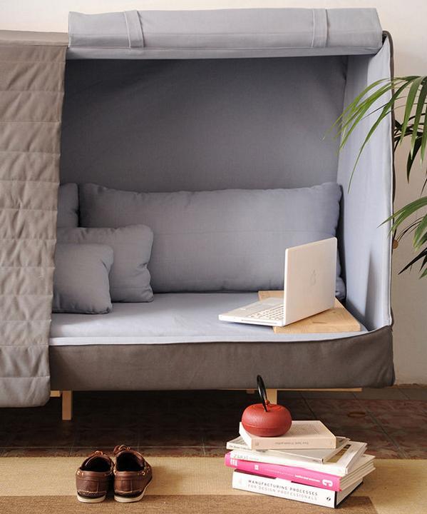 【人をダメにするソファ?】 『秘密基地』が作れるソファ登場!ソファにもベッドにも部屋にもなるwwwww :  http://t.co/MHhKRvegJf http://t.co/8MsaPVpHkh