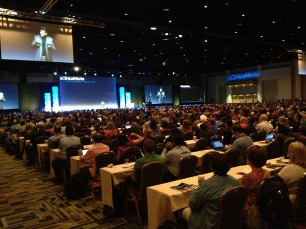#NUC2014 #eClinicalWorks kicking off now with 4500 attending!! Girsh Navani http://t.co/ul5sQAIHIt