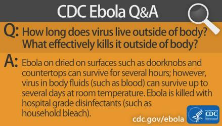 Our next #EbolaFact is about how long the virus lives on surfaces, a common question about Ebola. http://t.co/ekLEdM4o3z