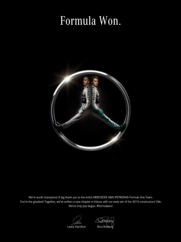 Advertisement of the year goes to @MercedesAMG. #FormulaWon http://t.co/rT0sLlbbvz