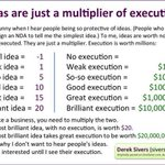 Friendly reminder that ideas without execution arent worth very much. Via @sivers http://t.co/AOX1DMqDqr