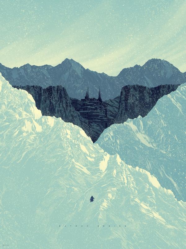 My BATMAN BEGINS print for the upcoming @MondoNews Batman 75th Anniversary Show! http://t.co/HB46d52Td5 #Batman http://t.co/P8EkIANyi0