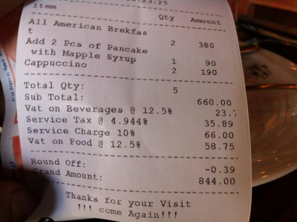 Here's why eating out should be considered an act of patriotism or how a Rs 660 reaches Rs 844 http://t.co/Whnin2z2Tl
