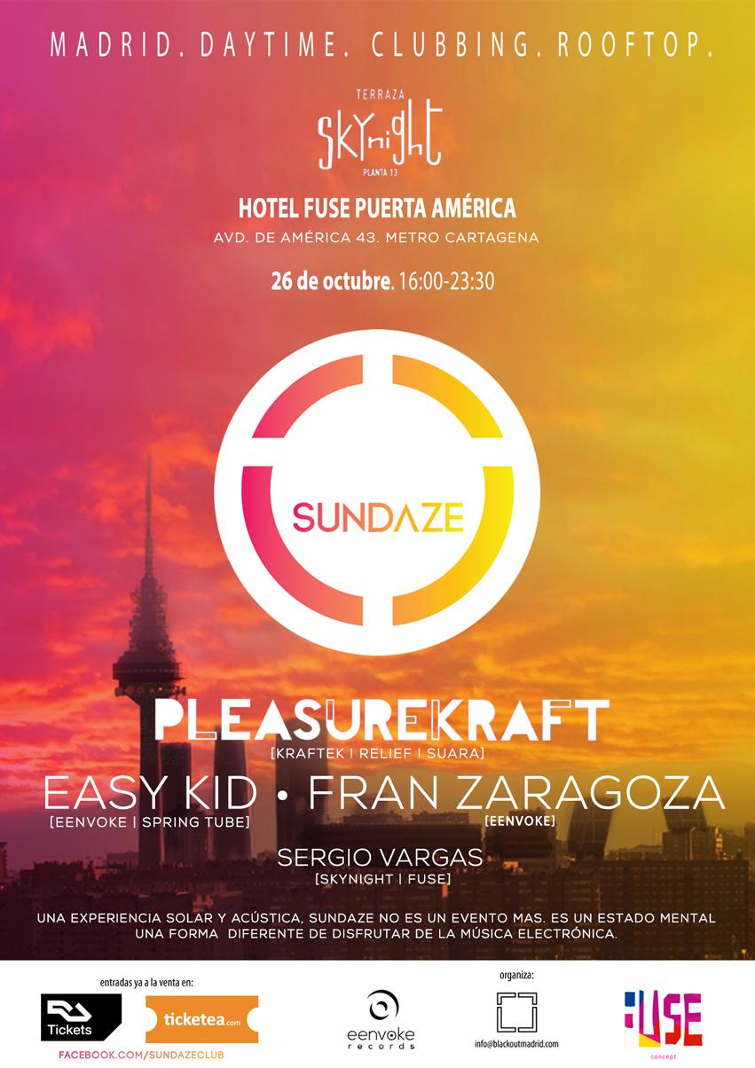 RT @frann_zaragoza: Sundaze is back!! The only rooftop club in Madrid w/ @Pleasurekraft @EasyKid_ http://t.co/CdyBSGJx8G