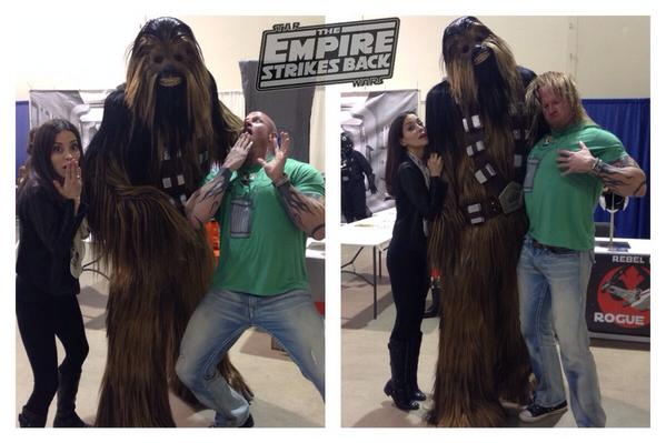 "Haha love it! #LostGirl ""@evaugier: @BigInkdArcher getting our geek on @treecitycomicco http://t.co/r8CR15RLpD"""