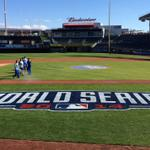 RT @KCMO: Via @kcgrassman: Did I mention we are hosting Game 1 of the 2014 #WorldSeries on Tuesday? #Royals http://t.co/Q0wwFkmaq0