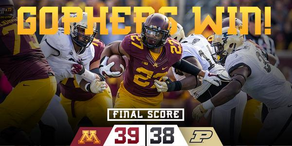 FINAL: #Gophers defeat Purdue! #MINNvsPUR http://t.co/HQU4DeU4rA