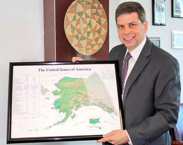 Happy Alaska Day! Today in 1867 Russia transferred territory of AK to U.S. Enjoy a pic of my favorite map of the U.S. http://t.co/2KgkhoDdfv