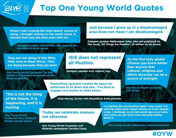 One Young World Summit 2014 Top Quotes #OYW http://t.co/CUIOXaYfEB