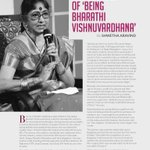 Glimpses into life of veteran south superstar #Bharathi Vishnuvardhana in @southscope Sept issue http://t.co/GtRYm9I1Yk